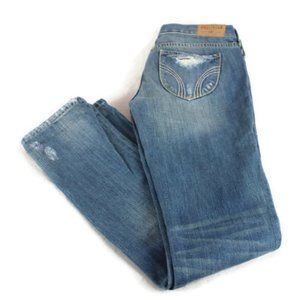 Hollister Bettys Destroyed Low Rise Slim Jeans NWT